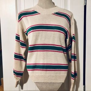 2/$20 // Knit Mock-Neck Striped Pullover Sweater